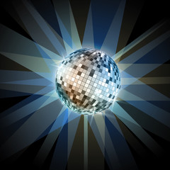 Disco ball. Disco background