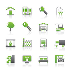 Real Estate Icons - Vector Icon Set