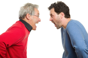 Vater und Sohn streiten