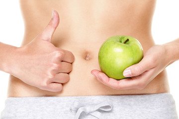 Eating healthy apple fruits is good for stomach
