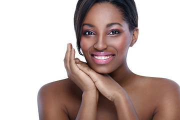 African woman with perfect skin