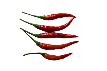 group of red chilies