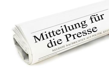 Mitteilung für die Presse