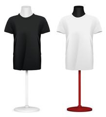 Plain t-shirt on mannequin torso template