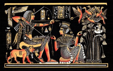 Black egyptian papyrus
