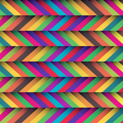 Foto auf Acrylglas ZigZag beautiful zig zag patterned background with soft retro colors