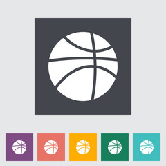 Basketball flat icon.