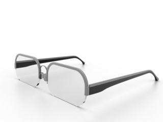 Eyeglasses on the white background