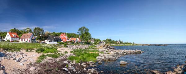 Tuinposter Scandinavië Panorama der Küste Bornholms
