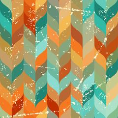 Seamless grunge pattern in retro style.