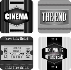 Cinema stickers