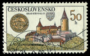 CZECHOSLOVAKIA - CIRCA 1982 shows Krivoklat Castle