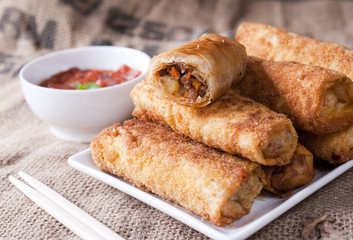 Fried meat rolls
