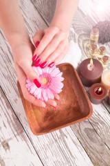 Beautiful woman Hands.Manicure concept
