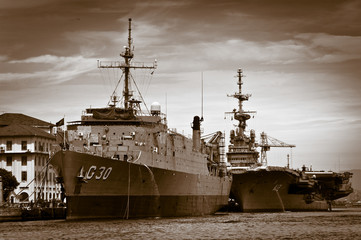 Ship at the Rio de Janeiro port