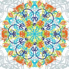 Arabian ornament flower for decoration vector