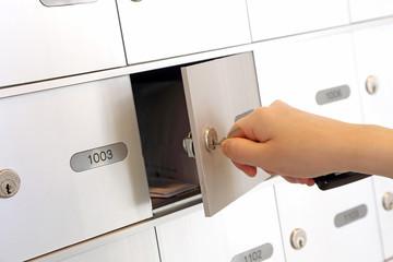 Opening mailbox