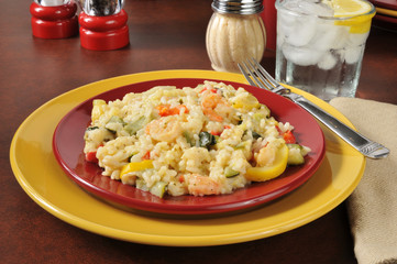 Healthy garlic shrimp Risotto