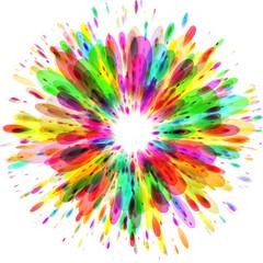 colorful paint splash background