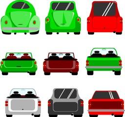 verschiedene Autos von Hinten