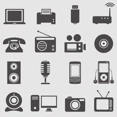 Device icons set.Vector