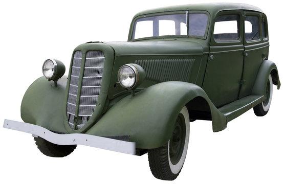 old Army green car