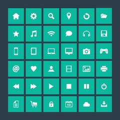Set of icons, flat design