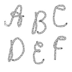 Ropes lettering