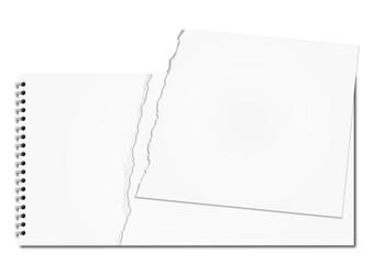Bloc Papier Dechire Blanc