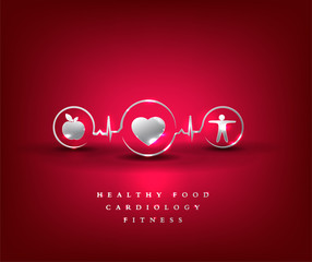 Healthy food and fitness leads to healthy heart and life