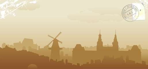 amsterdam abstract skyline