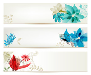 Spoed Fotobehang Abstract bloemen Beauty flower banners