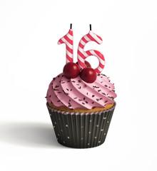 Sweet 16 birthday cupcake celebration