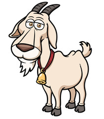 Vector illustration of Goat Cartoon
