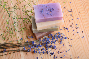 Wall Mural - Herbal soaps