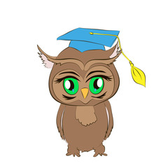 academic owl cartoon