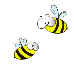 funny cartoon bees