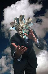businessman in maschera