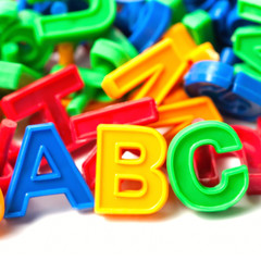 abc colorful letters