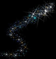 Stars night constellations vector