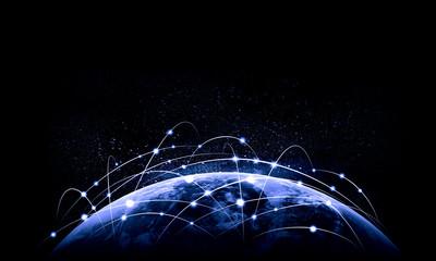 Blue image of globe