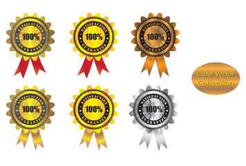 award label collection design