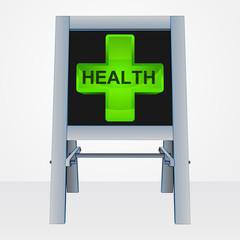 health presentation on easel board vector