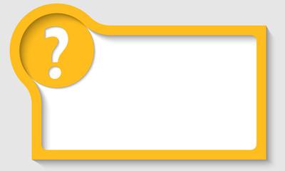 yellow text frame