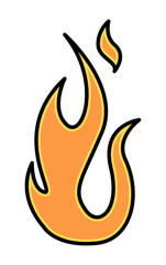 Simple Fire Flame - Vector Illustration
