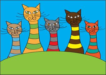 funny cartoon cats