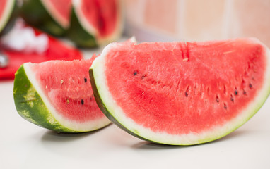 sliced watermelon isolated