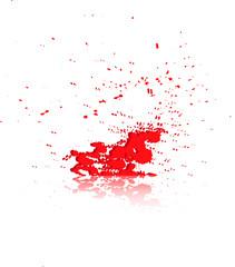 Брызги крови на белом фоне
