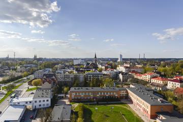 Aerial view of Bialystok, Poland