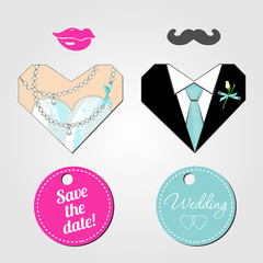 Wedding card elements